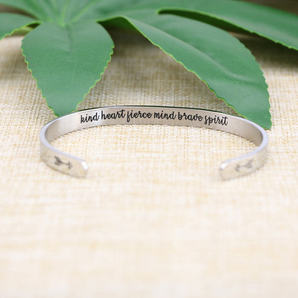 Kind Heart Fierce Mind Brave Spiri bracelets