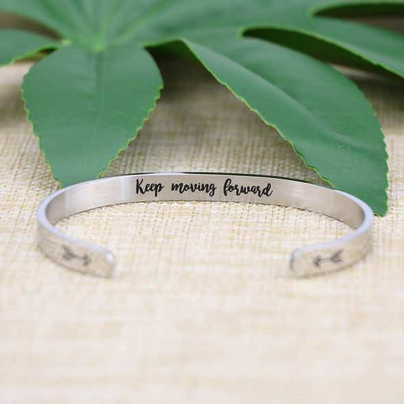 Keep Moving Forward bracelets