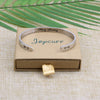 Hidden Message Quote Encouragement bracelets cuff
