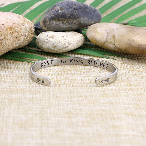 Engraved Stainless Steel Birthday Graduation Silver Friendship Bangles