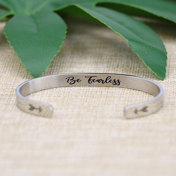 Be Fearless Mantra Cuff