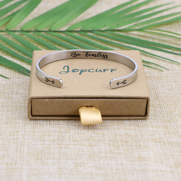 Inspirational Mantra Women Cuff