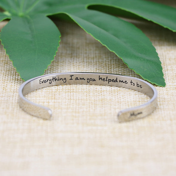 Everything I AM You Helped Me To Be Mother Day Bracelets
