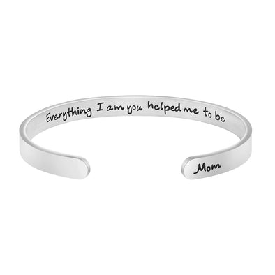 Mom: Everything I AM You Helped Me To Be Mother Day Gifts