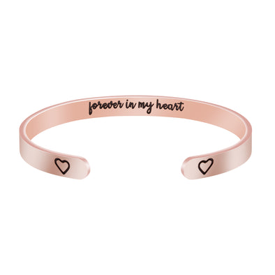 Forever in My Heart Hidden Message Cuff Bracelet