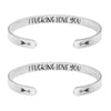 I Fucking Lve You Set of 2 Bracelets