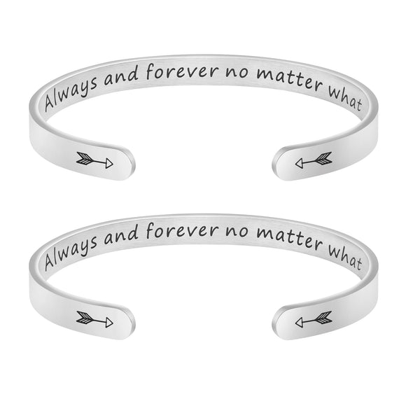 Always And Forever No Matter What Bracelets