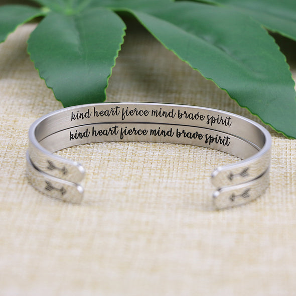 Kind Heart Fierce Mind Brave Spirit Jewelry