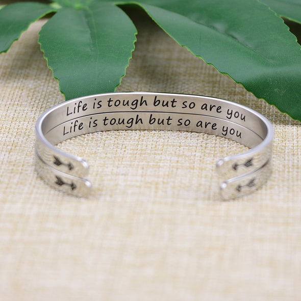 Life Is Tough But So Are You Set of 2 Bracelets