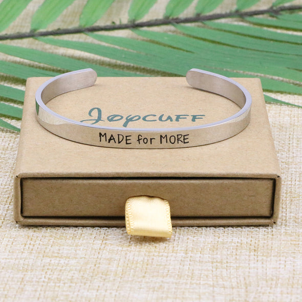 Made for More Mantra Cuff