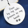 Once by My Side Forever in My Heart Dog Sympathy Wind Chime