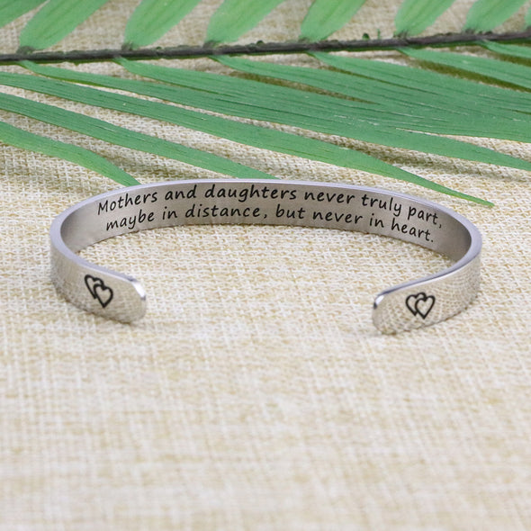Inspirational Bracelet Gift for Mother's Day Long Distance Jewelry