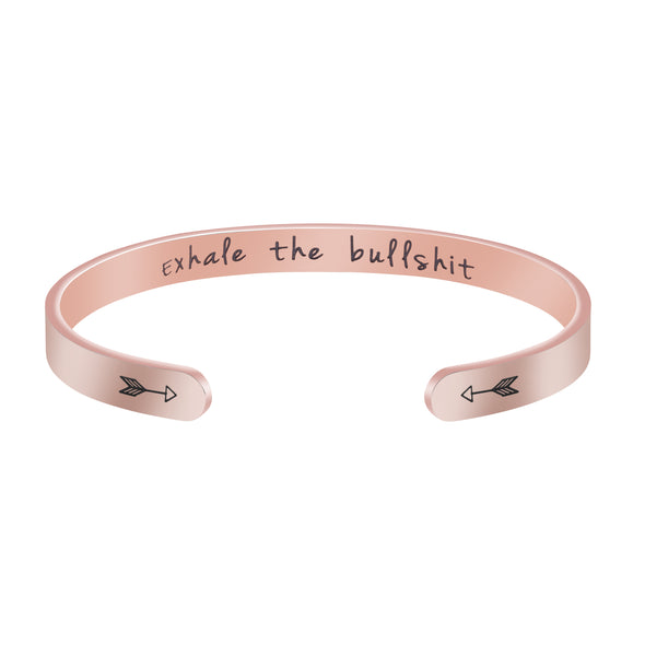 Exhale the Bullshit Yoga Bracelets