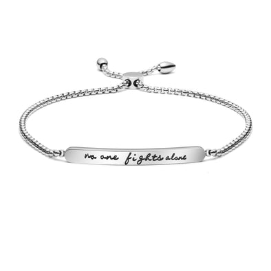 No One Fights Alone Adjustable Chian Bracelet