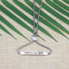 With Brave Wings She Flies Adjustable Chain Link Jewelry