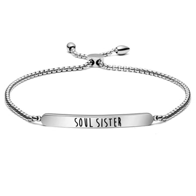 Soul Sister Adjustable Link Chain Bangle