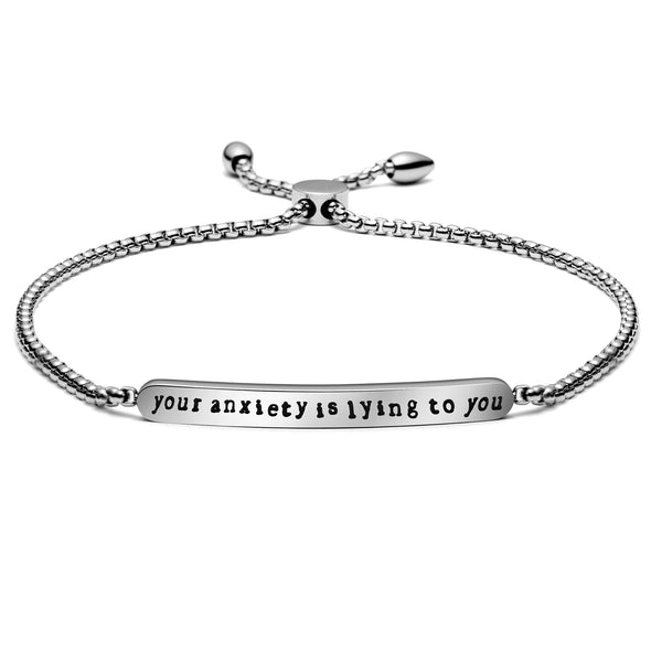 Your Anxiety is Lying to You Chain Link Bracelet