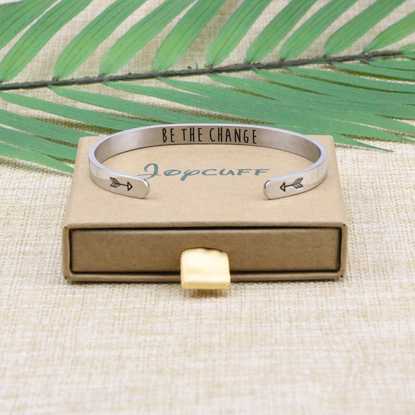 Be the Change quote cuff