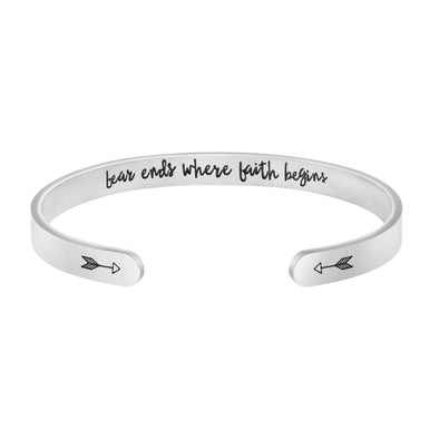 Fear Ends Where Faith Begins bracelets