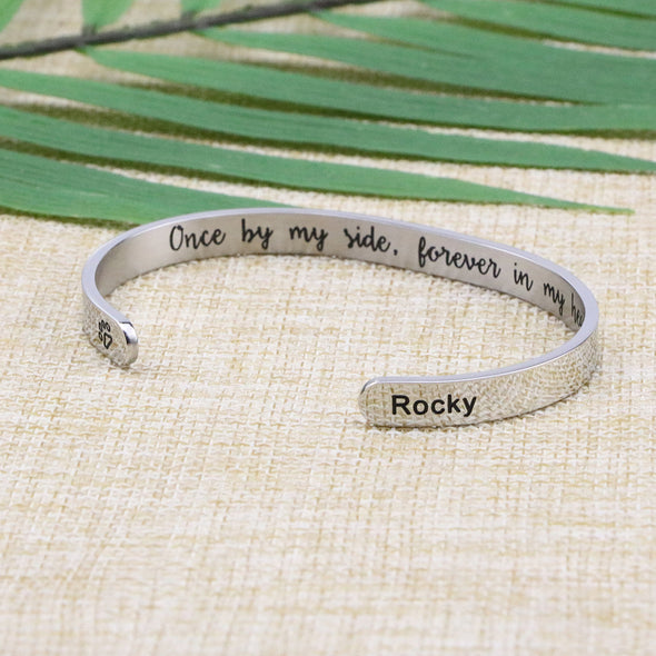 Rocky Dog Sympathy Gift Animal Remembrance Bracelets for Female