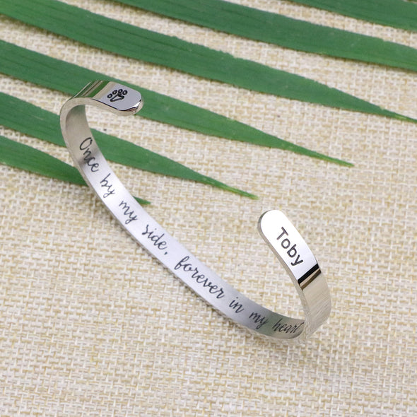 Toby Pet Memorial Dog Sympathy Cuff Bracelets for Pet Lovers