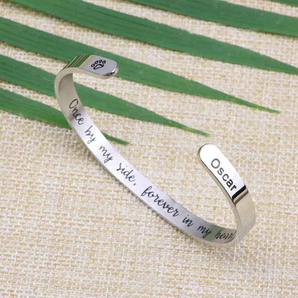 Oscar Animal Remembrance Cuff Bracelets for Pet Lovers