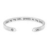 Lily Pet Memorial Jewelry Personalized Dog Sympathy Gift Animal Remembrance Cuff Bracelets for Pet Lovers