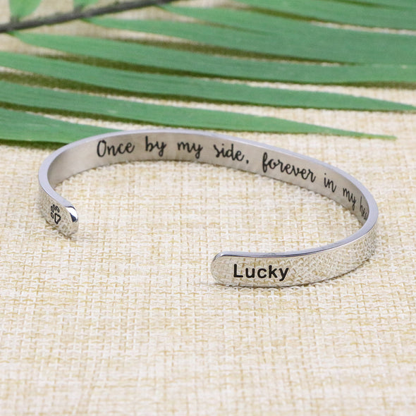 Lucky Animal Remembrance Cuff Bracelets for Pet Lovers