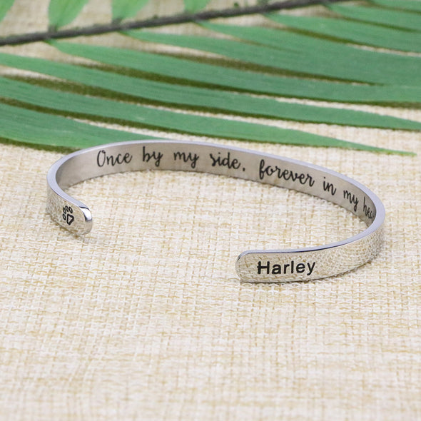 Harley Pet Memorial Bangle Personalized Dog Sympathy Gift