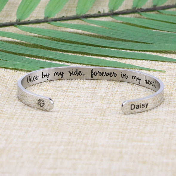 Daisy Memorial Gift Loss of Pet Engraved Bracelet