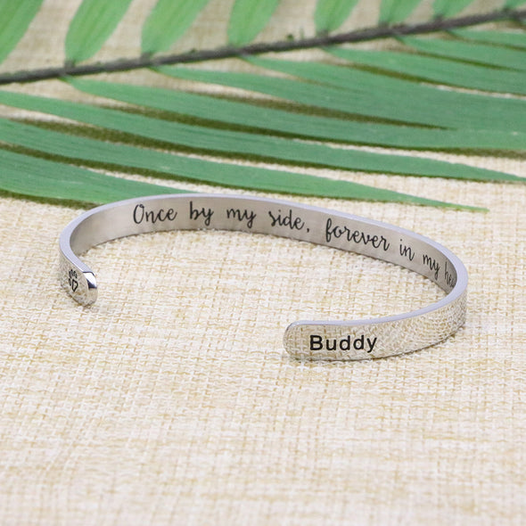 Buddy Memorial Gift Loss of Pet Engraved Bracelet