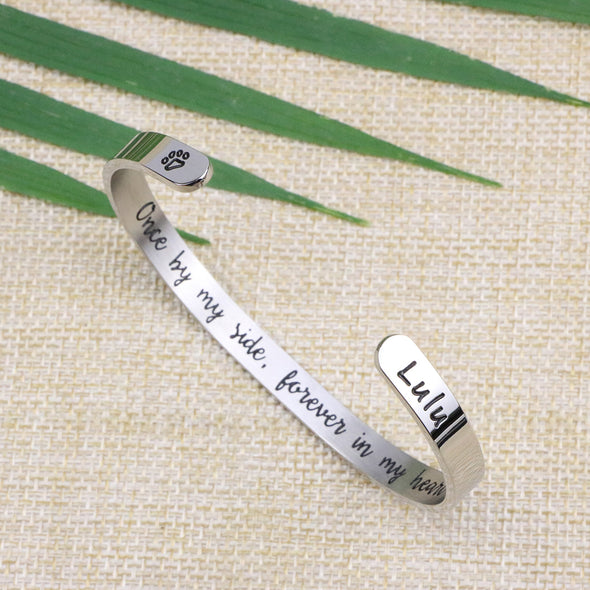 Lulu Pet Memorial Bracelets Personalized Dog Sympathy Gift