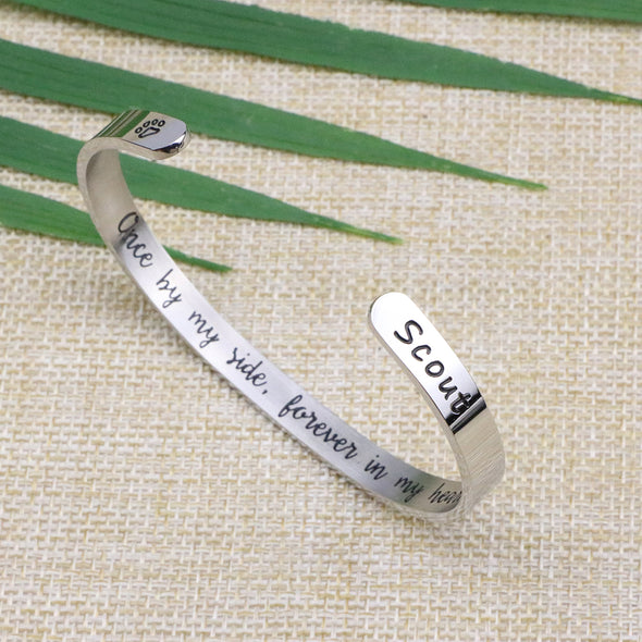 Scout Pet Memorial Jewelry Personalized Dog Sympathy Gift