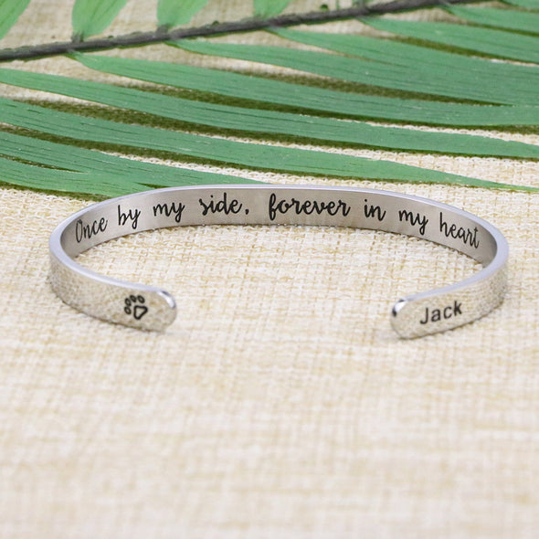 Jack Pet Memorial Jewelry Animal Remembrance Cuff for Sister