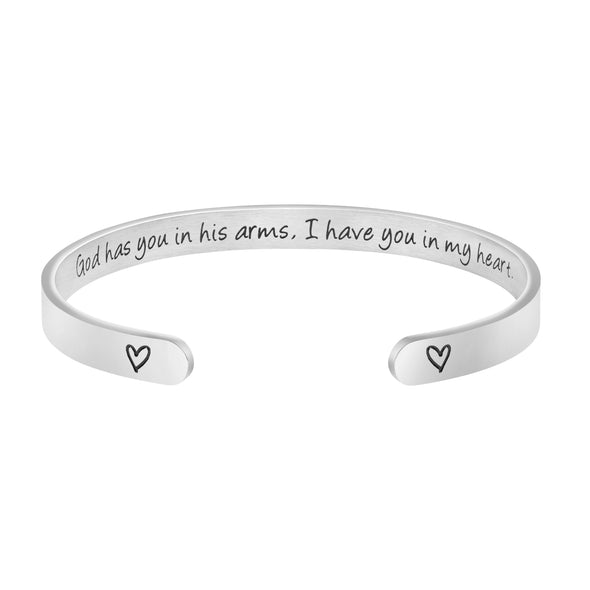 God Has You in His Arms I Have You in My Heart Memorial Bangle