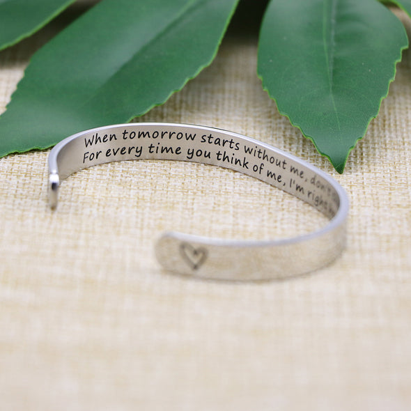 Pet Loss Gift Dog Memorial Cuff