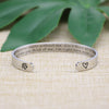 Pet Loss Gift Dog Memorial Bangle