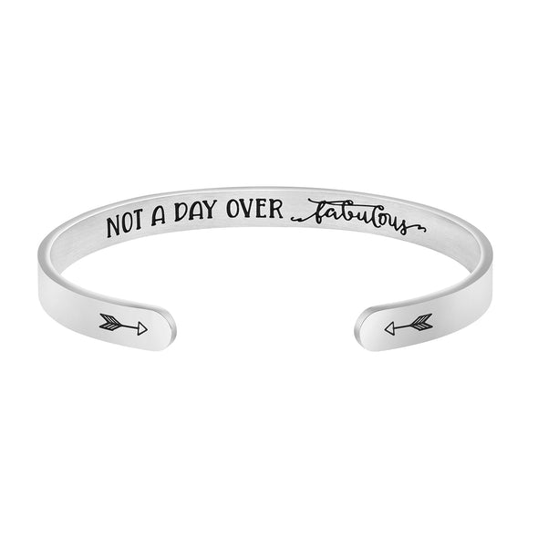 Not A Day Over Fabulous Mantra Bracelet