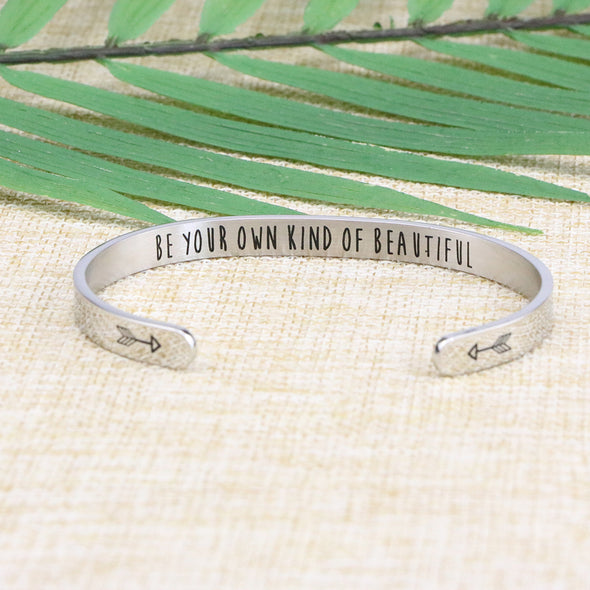 Be Your Own Kind of Beautiful Mantra Cuff