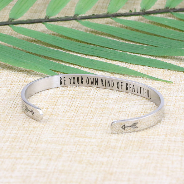 Be Your Own Kind of Beautiful Mantra bracelets