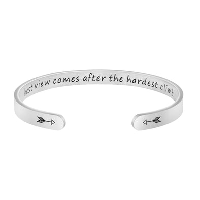 The Best View Comes After The Hardest Climb Bracelet