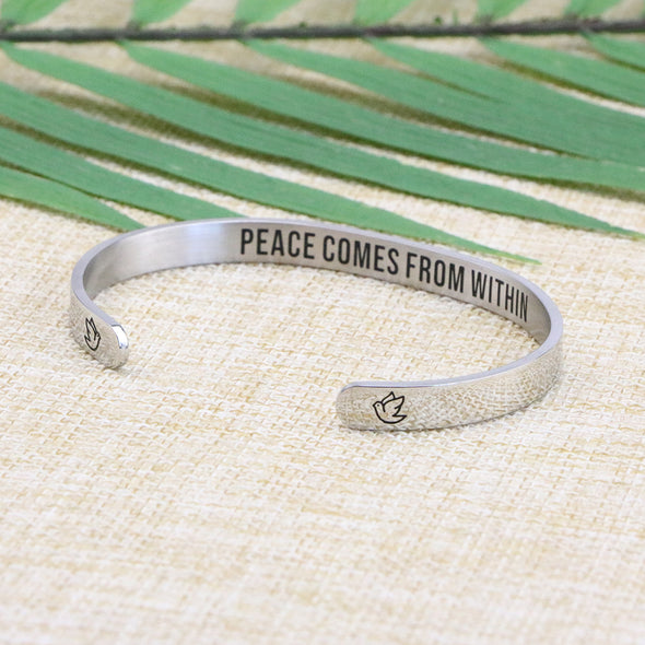 Peace Comes from Within Funny Jewelry