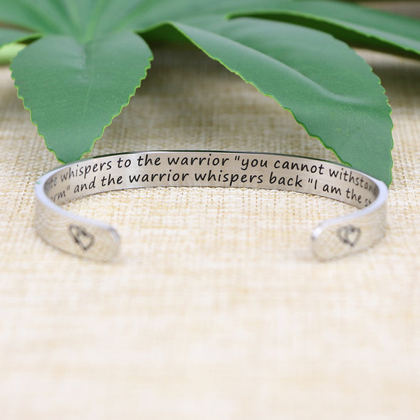 Fate Whispers to the Warrior Inspirational I Am Storm Bracelets