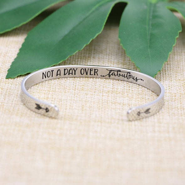 Not A Day Over Fabulous Mantra Jewelry