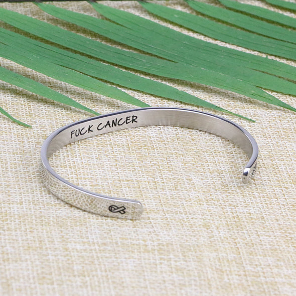cancer bracelets engraved metal