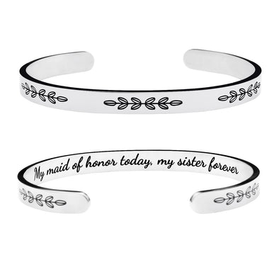My Maid of Honor Today My Sister Forever Bracelets