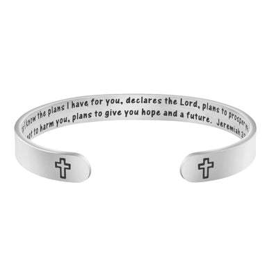 For I Know Plans I Have for You Jeremiah 29:11 Cross bracelets