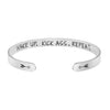 Wake Up Kick Ass Repeat Mantra Bracelets