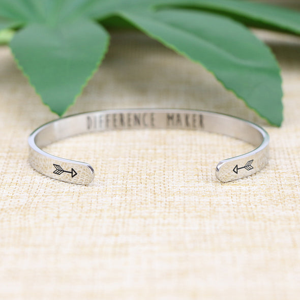 Difference Maker mantra bangle