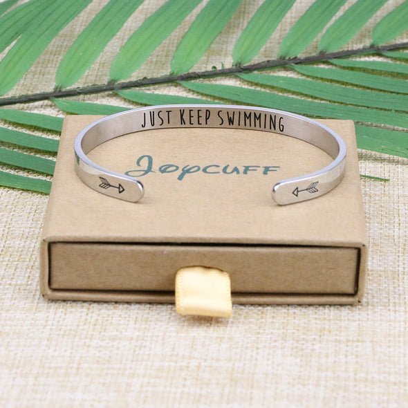 Just Keep Swimming Friend Encouragement Bracelets